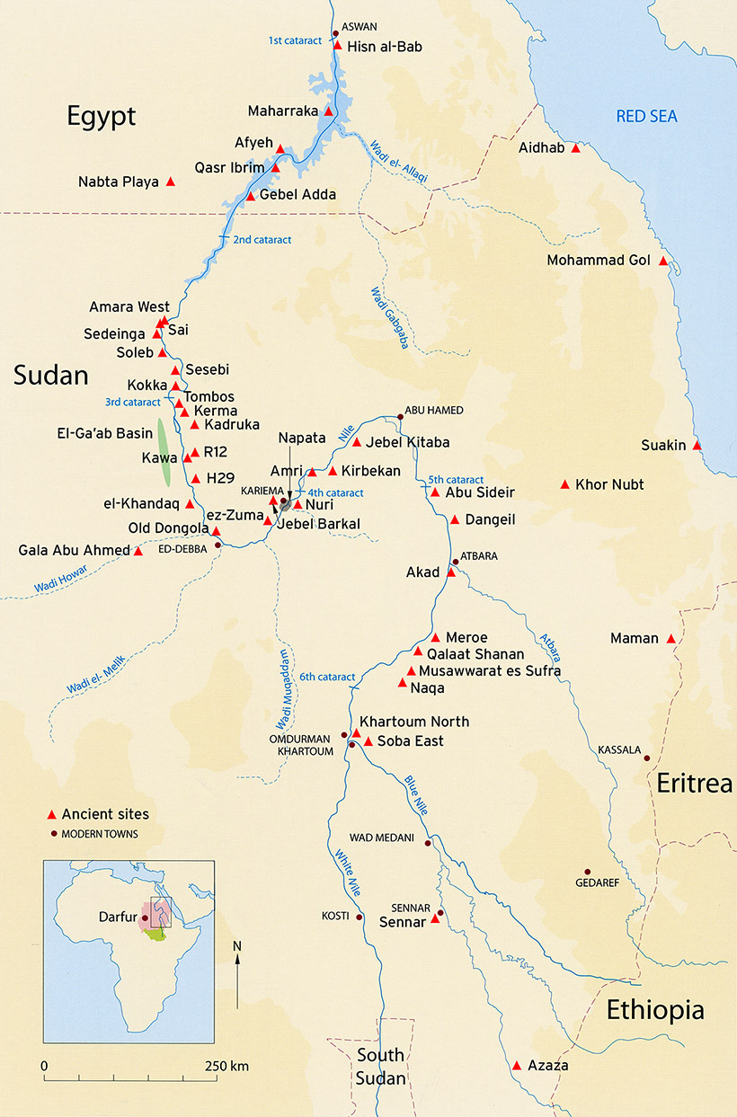 The Sudan Archaeological Research Society Map Of Sudan - Map of ancient egypt first cataract